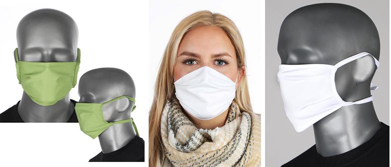 Zu Ihrem Schutz: Behelfsmasken
